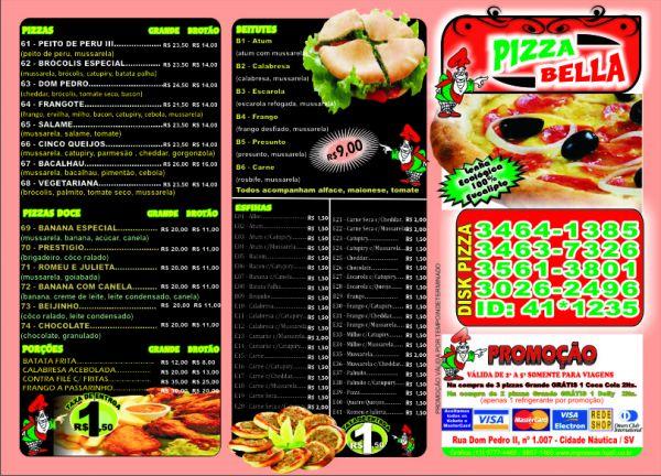4 X 4 >> Panfleto de Pizzaria 4x4 - Loja de impressos